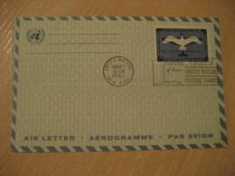 NEW YORK 1961 11c Air Mail Air Letter Aerogramme United Nations UN USA - New-York - Siège De L'ONU
