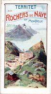 Suisse. Dépliant Touristique Ancien. Chemins De Fer De Territet Aux Rochers De Naye. - Dépliants Touristiques