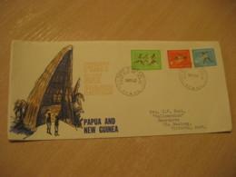PORT MORESBY 1962 To Victoria Australia Perth British Commonwealth Games FDC Cancel Cover PAPUA NEW GUINEA - Papua New Guinea
