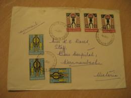 GOROKA 1966 To Victoria Australia 6 Stamp On Cancel Air Mail Cover PAPUA NEW GUINEA - Papua New Guinea