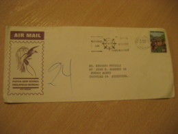 PORT MORESBY 1971 To Buenos Aires Argentina Stamp On Cancel Air Mail Cover PAPUA NEW GUINEA - Papua New Guinea