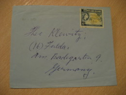 Shaw Savill Line To Fulda Germany Stamp On Cancel Cover PITCAIRN ISLANDS Polynesia British Colonies Area - Stamps