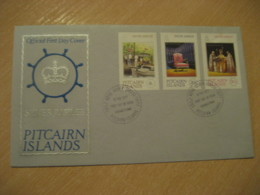 ADAMSTOWN 1977 Royal Silver Jubilee Royalty FDC Cancel Cover PITCAIRN ISLANDS Polynesia British Colonies Area - Pitcairn Islands