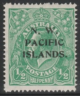Australia 1915 - SG 65, 1/2d - KING GEORGE V - HEADS - N.W. PACIFIC ISLANDS. / NEW GUINEA - MNH - Mint Stamps