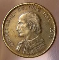Médaille Découverte De L'Amérique - 400 ème Anniversaire 1492-1892 - Profil De Christophe Colomb - France