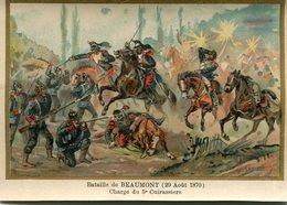 BATAILLE De BEAUMONT - 29 AOÛT 1870 - CHARGE Du 5 ème CUIRASSIERS - - Chromos