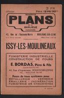 92, Plan De La Banlieue Parisienne, Issy Les Moulineaux, Plan Et Publicités à L'interieur - Planches & Plans Techniques