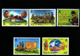 ISLE OF MAN - 1982 BOY SCOUT MOVEMENT  SET  MINT NH - Isola Di Man