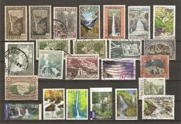 Monde - Chutes D'eau Et Cascades - Petit Lot De 24° - Niagara - Victoria - Russell - Nandroya Falls - Iguacu - Boali .. - Stamps