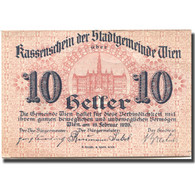 Billet, Autriche, Vienne, 10 Heller, Château, 1920, SPL Mehl:FS 1183IIbA - Autriche