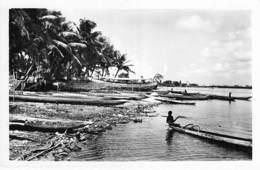 AFRIQUE NOIRE - COTE D'IVOIRE - ABIDJAN : Embarcadère De TREICHEVILLE - CPSM Dentelée N/B Format CPA - Black Africa - Ivory Coast
