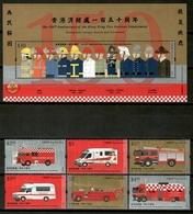 Hong Kong 2018 / Firefighters Firemen Fire Services Ambulances MNH Bomberos Ambulancias Feuerwehr Pompiers / Cu13220  1 - Bombero