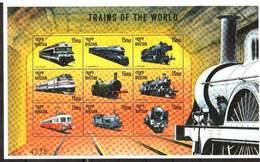 Bhutan, 1999. [bhu9904] Locomotives (s\s) - Trains