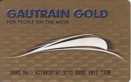 South Africa, Gautrain Gold Card, Transport Card In Pretoria For Train Bus, Metro, Parking - Moteurs