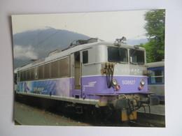 Photographie Originale Locomotive Electrique 508627 SNCF Gros Plan  - Gare Luchon 31 - Photo Christian Vallée - Eisenbahnen