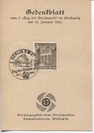Deutsches Reich Tag Der Briefmarke Gedenkblatt Berlin 12.1.41 Gebirgsjäger Ausgabe Des Briefmarken-Sammlervereins Witkow - Briefe U. Dokumente