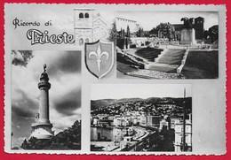 CARTOLINA VG ITALIA - Ricordo Di TRIESTE - Vedutine Multivue - 10 X 15 - ANN. 195? - Trieste