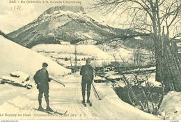 CHAMECHAUDE (38) - LES SKIEURS AU SAPPEY- 1916  BB-666 - France