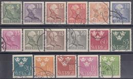 SUECIA 1939/1942 Nº 259/72 USADO - Suecia