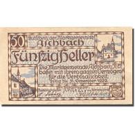 Billet, Autriche, Aschbach, 50 Heller, Eglise 1920-12-31, SPL Mehl:FS 55e - Autriche