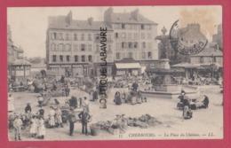 50 - CHERBOURG---La Place Du Chateau --marché---animé - Cherbourg