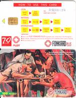 PHILIPPINES(chip) - Painting/Katipunan Initiation Rites(reverse B- Chip 5), Exp.date 30/01/00, Used - Filippijnen