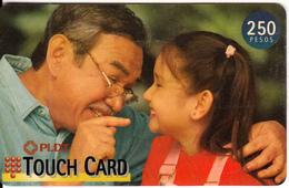PHILIPPINES(chip) - Father & Daughter, PLDT Prepaid Card 250 Pesos, Exp.date 31/01/99, Used - Filippijnen