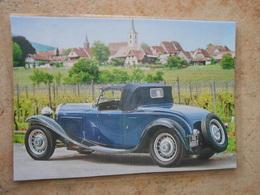 Grande Repro Automobile ;cartonnée Et Plastifiée : Voiture BUGATTI Type 49 1932 - Automobiles