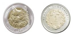 AC -  ANKARA CAT COMMEMORATIVE BIMETALLIC COIN UNCIRCULATED TURKEY, 2010 - Turkey