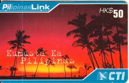 HONG KONG - Kumusta Ka Pilipinas, CTI Prepaid Card $50, Exp.date 30/06/00, Used - Hong Kong