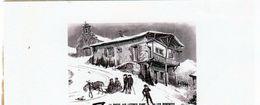 La Poste Aux Lettre Dans Les Pyrénées - Document Musée Postal D'après Victor Petit, - Stiche & Gravuren