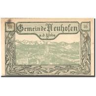 Billet, Autriche, Neuhofen A.d Ybbs, 10 Heller, Village, 1920 SUP Mehl:FS 650b - Autriche