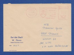 DDR Firmenbrief 1983 AFS - PLAUEN, Rat Der Stadt Plauen, Schöner Unsere Stadt Plauen -Mach Mit- - Machine Stamps (ATM)