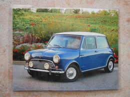 Grande Repro Automobile Cartonnée Et Plastifiée : MORRIS MINI COOPER 1965- - Automobiles