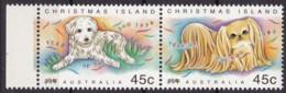 Christmas Island, 1994, 392/93, Chinesisches Neujahr: Jahr Des Hundes. MNH ** - Christmas Island
