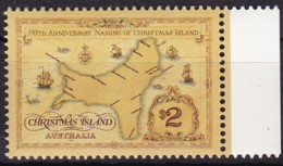 Christmas Island, 1993, 391, 350. Jahre Entdeckung Der Weihnachts-Insel. MNH ** - Christmas Island