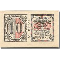 Billet, Autriche, Telfs, 10 Heller, Valeur Faciale, 1921 SPL Mehl:FS 1061a - Autriche