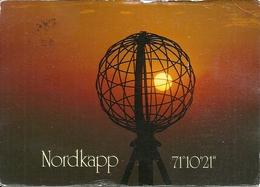 Nordkapp (Norvegia, Norge, Norway) Midnight Sun At North-Cape, View, Ansicht, Vue, Panorama - Norvegia