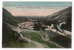 1910s  SERBIA, PECKA PATRIJARSIJA, VIEW OVER PEC MONASTERY AND TOWN OF PEC, ILLUSTRATED POSTCARD, NOT USED - Serbia
