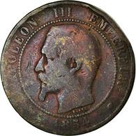 Monnaie, France, Napoleon III, Napoléon III, 10 Centimes, 1854, Marseille, B+ - France