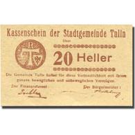 Billet, Autriche, Tulln, 20 Heller, Valeur Faciale, 1920 SPL Mehl:FS 1083I.12 - Autriche