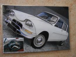 Grande Repro Automobile Cartonnée Et Plastifiée : CITROEN  AMI 6 BERLINE 1963 - Automobiles