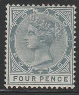Tobaco 1885 - SG 22, 4d - QUEEN VICTORIA, QV - MNH - Nigeria (...-1960)