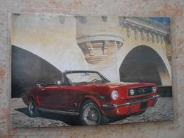 Grande Repro Automobile Cartonnée Et Plastifiée : FORD MUSTANG - - Automobiles