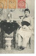 Chine    Jeune Fille  Carte De Tientsin Pour Toulouse Cachet Chinois Et Français 1908 - China