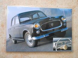 Grande Repro Automobile Cartonnée Et Plastifiée : PEUGEOT 403 De 1955  - - Automobiles