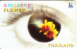 THAILAND(chip) - Flower, Cattleya Alma Kee, Lenso Telecard 300 Baht, Used - Thailand
