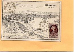 F2405 - Exposition Philatélique - Franco Anglaise - Juillet 1947 - A.C.T.O - Libourne - Tampon Poste - Exhibitions