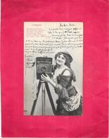 EDIT BERGERET - L'Objectif - Belle Jeune Femme Et L'appareil Photo - ARD - - Bergeret