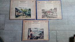 Lot 3 Calendrier 1927  Almanach Des Postes Ferme Moulin Bretagne Calanque à Agay Var - Calendriers